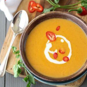 Tajska zupa z dyni piżmowej V, GF